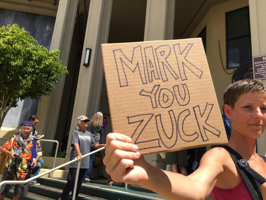 zuckerberg demonstrators
