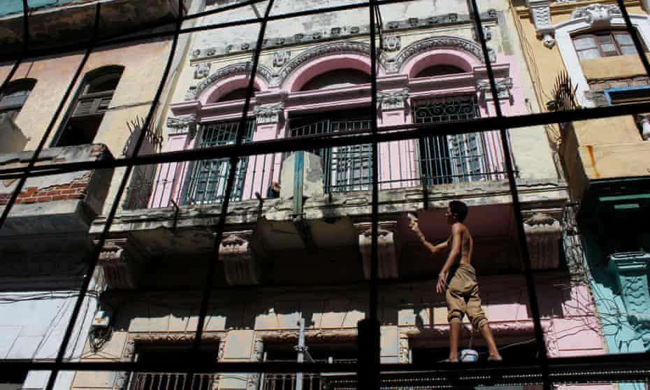 Renovations in Havana's Old Town.