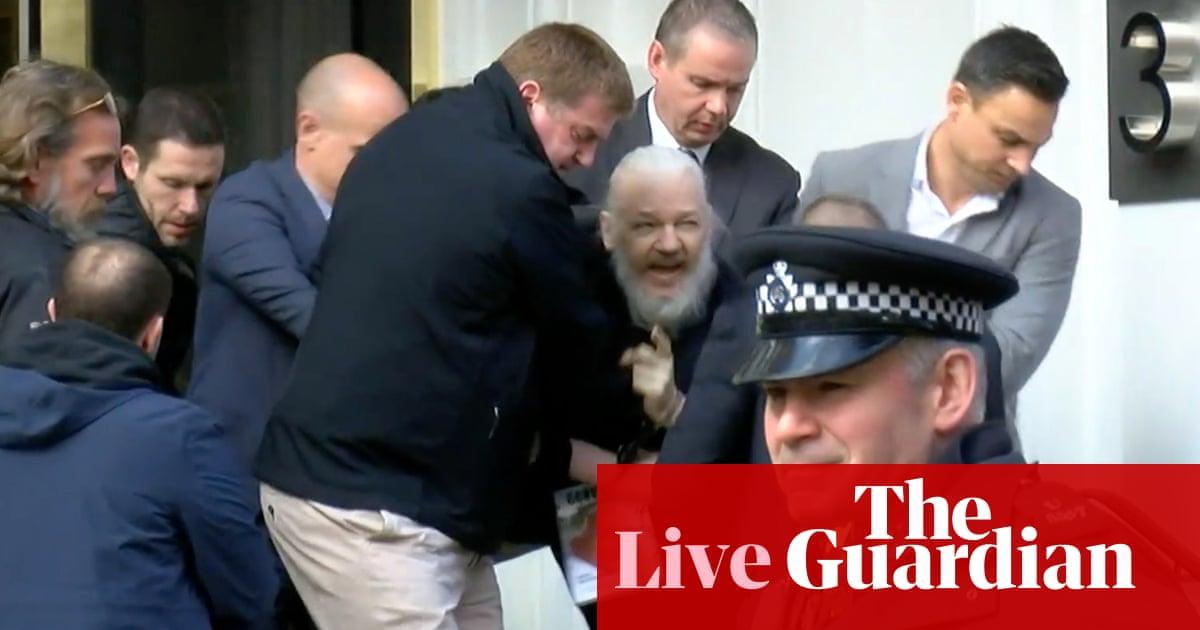 WikiLeaks founder Julian Assange arrested at London's Ecuadorian embassy – live updates