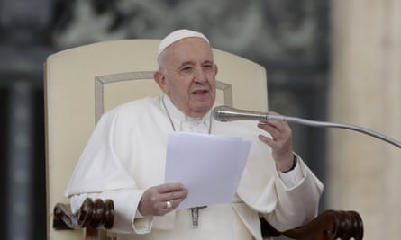 Pope Francis speaking at the Vatican in February