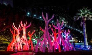 All around the harbour, lights and sculptures await festival visitors.