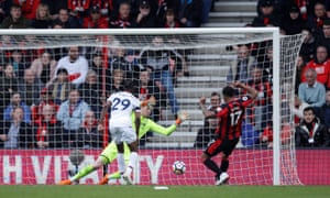 Joshua King scores Bournemouth's second equaliser in the final stages.