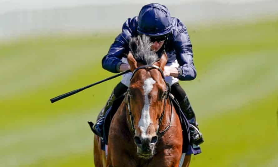 Ryan Moore rides Armory to a clear win in the Melodi Media Huxley Stakes on Chester Cup Day in May.
