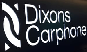 The logo of Dixons Carphone at the company headquarters in London.