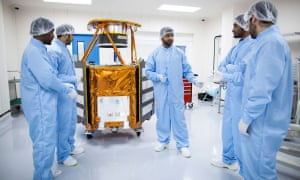 The mechanical engineering team at the Mohammed Bin Rashid Space Centre.