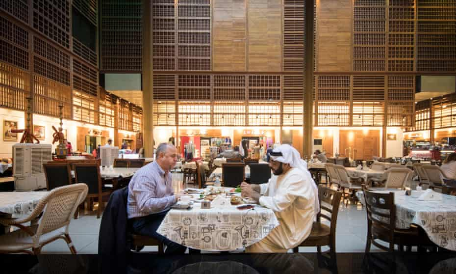Dinner in a shopping centre in World Trade Centre Abu Dhabi