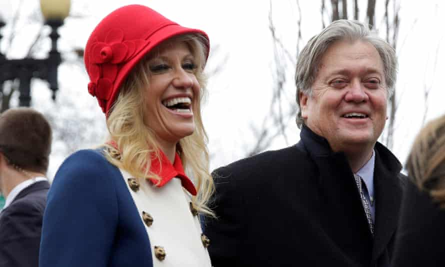 Kellyanne Conway and Steve Bannon.