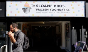 Sloane Brothers Frozen Yoghurt Co. A new arrival, it offers old-fashioned British biscuits such as Jammie Dodgers as toppings