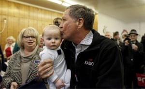 Baby-kissing is all too rare on the campaign trail these days. (We blame anti-vaxxers.)