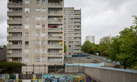 Social housing on the Thamesmead estate in London.