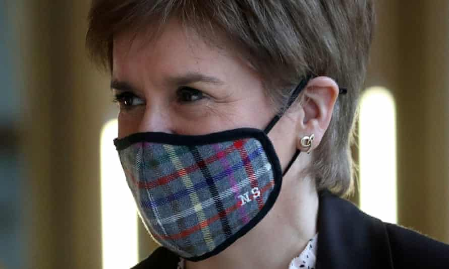 Nicola Sturgeon arrives in Holyrood to announce the Scottish lockdown on Monday 4 January.