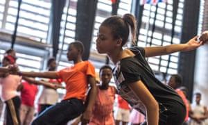 Children in Dane's dance workshop