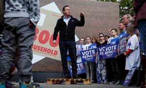 David Cameron delivers a speech in Witney