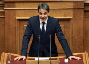 The parliamentary spokesman of the Greek New Democracy party, Kyriakos Mitsotakis.