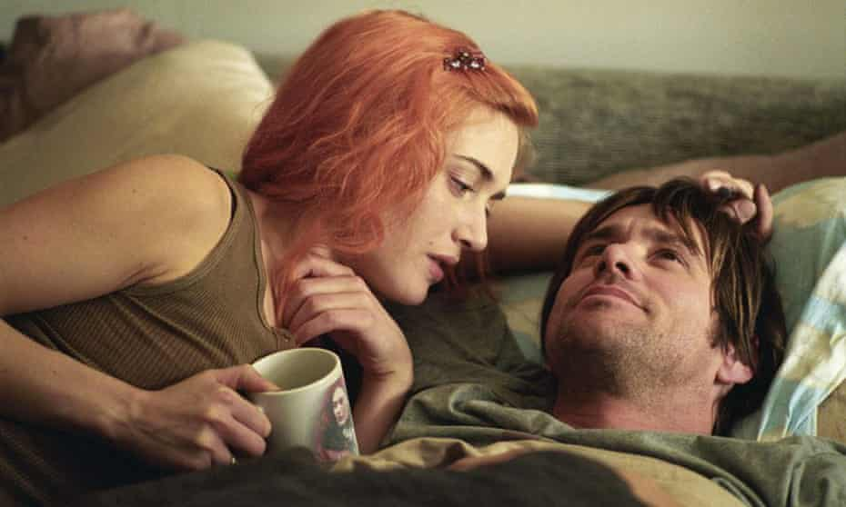 "Kate Winslet and Carrey in ""Eternal Sunshine of the Spotless Mind."
