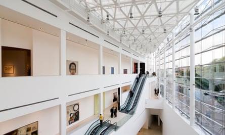 Museum of Modern Latin American Arts, interior view. MALBA Museo de Arte Contemporaneo Latinoamericano Buenos Aires Argentina