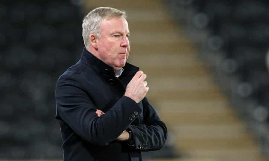 Kenny Jackett on the touchline at Hull in December 2020
