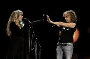 Stevie Nicks and Chrissie Hynde at a 2016 concert in Florida, USA