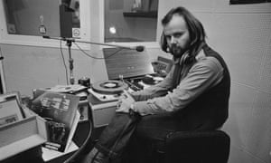 John Peel in the studio, 8th February 1972.