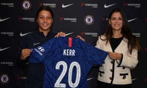 The arrival of Sam Kerr (left), pictured here alongside the Chelsea director Marina Granovskaia was arguably the moment when the Women's Super League went from pretender to the best in the world.
