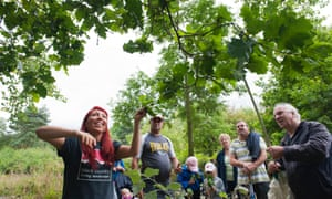 Visitors on a nature walk whilst attending the Black Country Living Landscapes Wildlife Roadshow