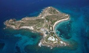 Little St James Island, one of the properties of Jeffrey Epstein, near Charlotte Amalie, St Thomas.