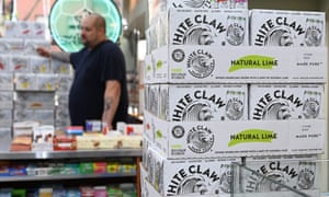 White Claw 'spiked seltzer' has been selling out across the US.