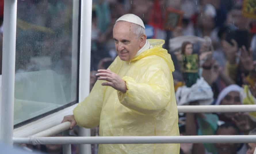 Pope Francis visited the Philippines in January to console survivors of typhoon Haiyan.