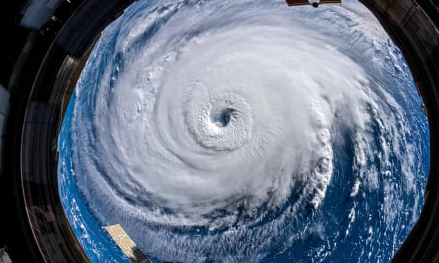 A handout photo made available by European Space Agency (ESA) astronaut Alexander Gerst shows Hurricane Florence seen from the International Space Station (ISS), in space, on Wednesday.