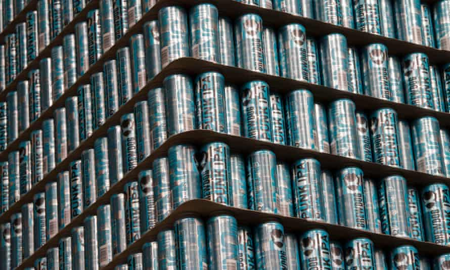 Cans of beer at the Ellon brewery in Aberdeenshire