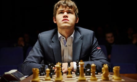 A celebrity beyond the chess world … Magnus Carlsen.
