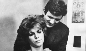 Albert Finney and Billie Whitelaw filming a scene from the movie Charlie Bubbles, March, 1967.