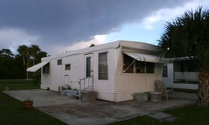 Lecturer Mindy Percival's mobile home in Stuart, Florida. Her oven, shower and water heater don't work.