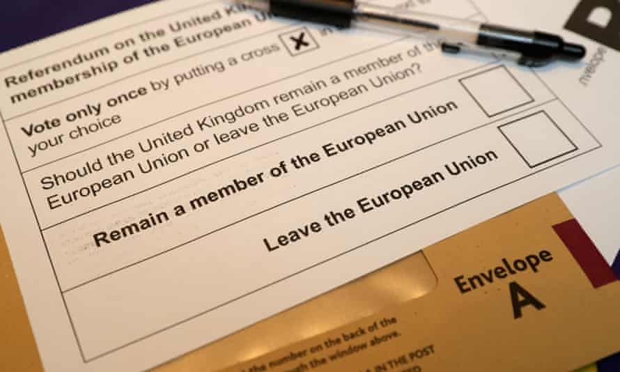 Brexit voting card