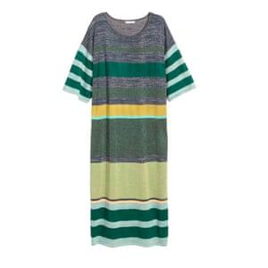 Striped dress, £24.99, hm.com.