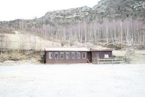 An abandoned ski school in Alpe Colombino