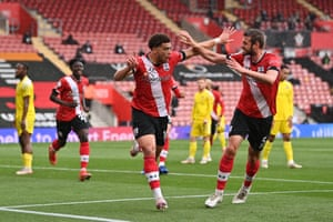 Che Adams opens the scoring for the Saints.