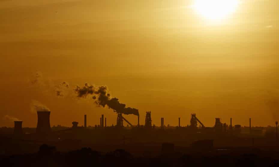British Steel plant at Scunthorpe