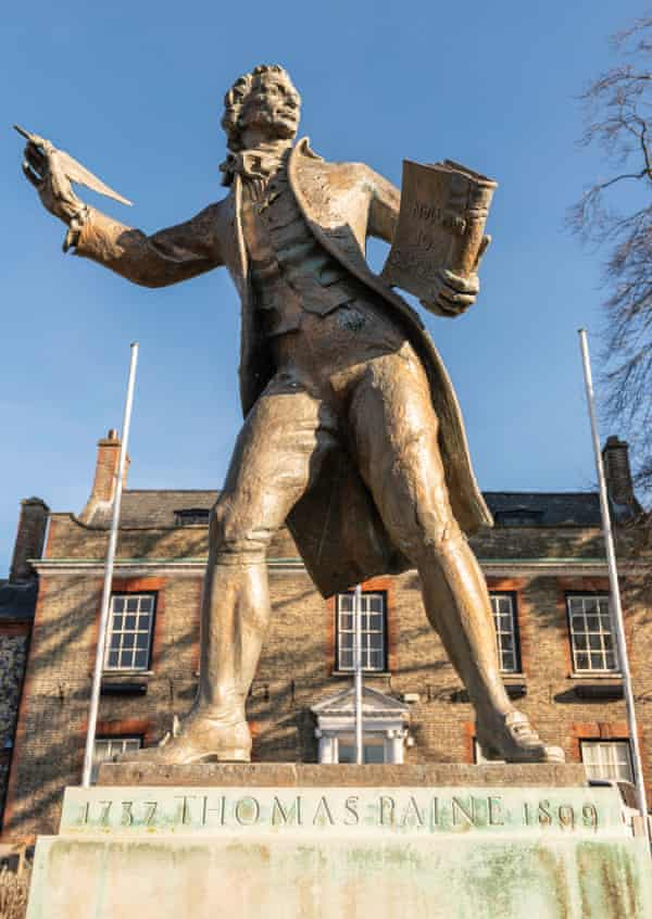 Thomas Paine (1737–1809), 1964, gilded bronze statue by Charles Thomas Wheeler (1892–1974)