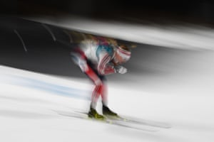 Norway's Johannes Thingnes Boe leads the way in the men's 20km individual biathlon.