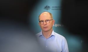 Chief medical officer Paul Kelly talks to the media during a Covid-19 briefing