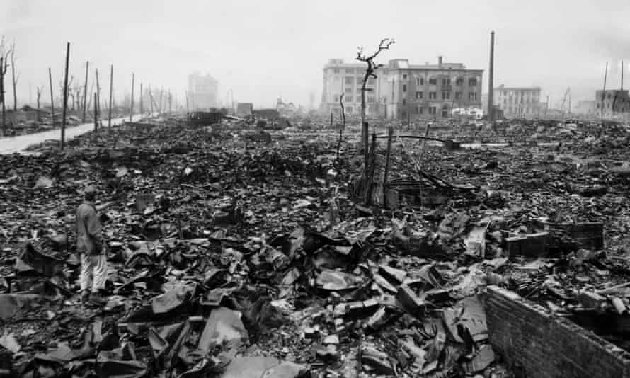 Hiroshima, Japan, in 1945, after the US deployed the atomic bomb.