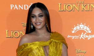Beyoncé at the London premiere of The Lion King, 14 July.