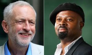 Jeremy Corbyn and Ben Okri