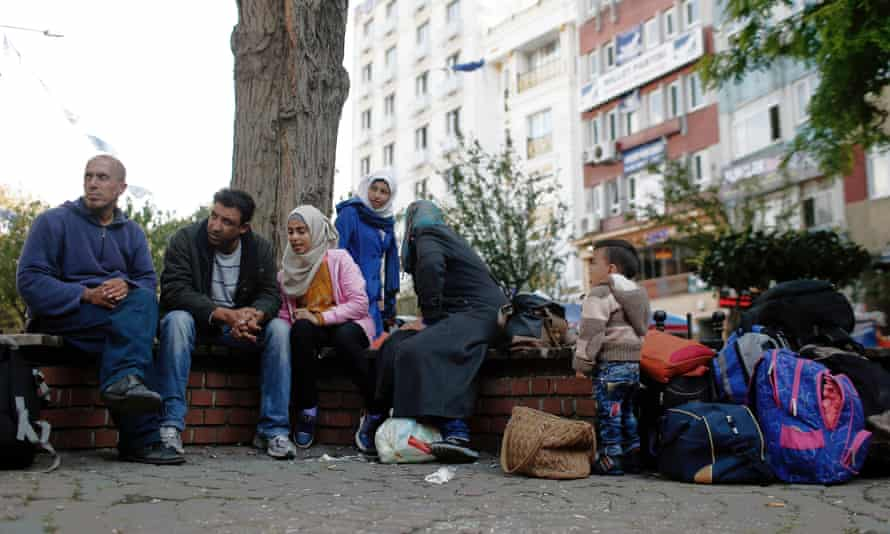 Syrian refugees in the Aksaray neighbourhood of Istanbul.