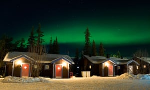 Light fantastic: the Northern Lights over the Ice Hotel.