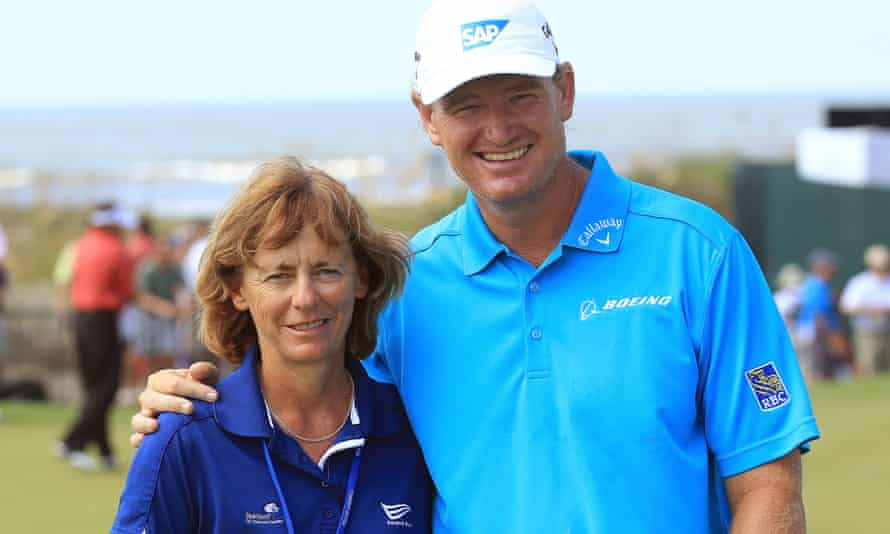 Sherylle Calder with South African golfer Ernie Els in 2012.