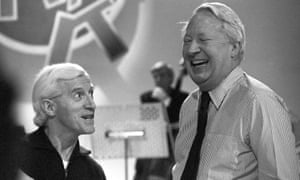 Jimmy Savile and Edward Heath.