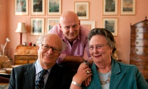 Lord and Lady Goodhart with their son, Benjie, in 2010.