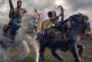 John Boyega and Naomi Ackie in Star Wars: The Rise of Skywalker.